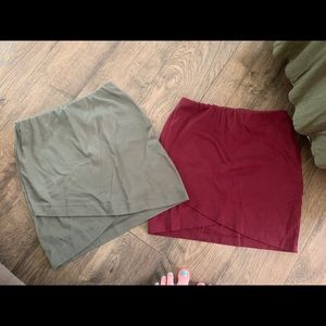SO green and red skirt bundle